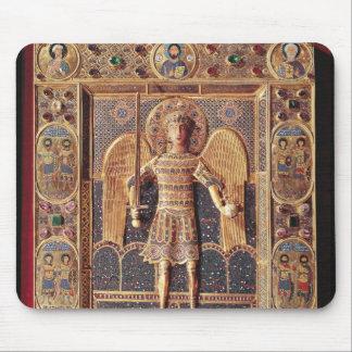 Enamelled plaque depicting the Archangel Michael Mouse Pad