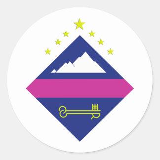 Encamp, Andorra Round Stickers