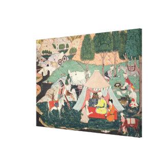 Encampment of a Prince Canvas Print