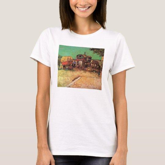Encampment of Gypsies Caravans by Vincent van Gogh T-Shirt