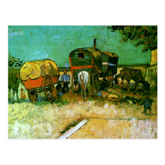 Encampment of Gypsies Van Gogh Fine Art Postcard