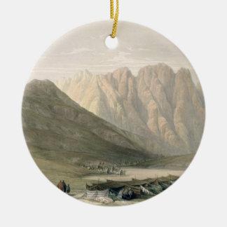 Encampment of the Aulad-Said, Mount Sinai, Februar Round Ceramic Decoration
