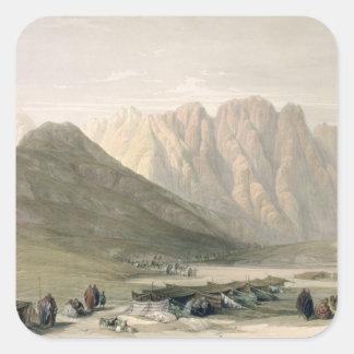 Encampment of the Aulad-Said, Mount Sinai, Februar Square Sticker