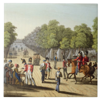 Encampment of the British Army in the Bois de Boul Large Square Tile