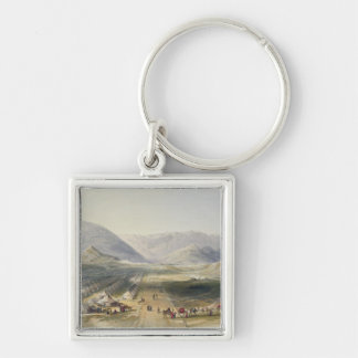 Encampment of the Kandahar Army under General Nott Silver-Colored Square Key Ring