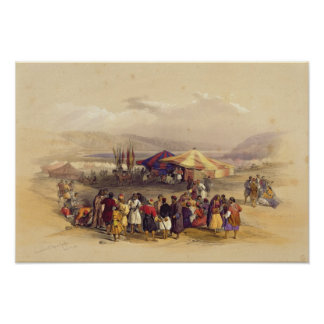 Encampment of the Pilgrims at Jericho' Volume II Poster