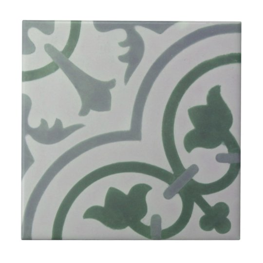 Encaustic Cement Tile in Shades of Grey