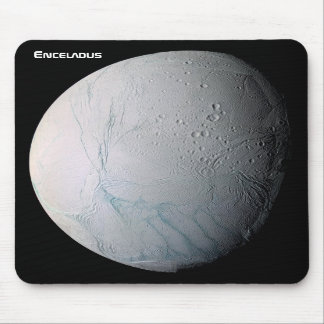 Enceladus 6th Moon of Saturn Mouse Pad