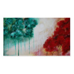 Enchanted Abstract Art Landscape Skinny Trees