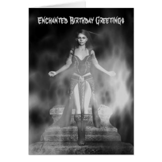 Enchanted Birthday Greetings Greeting Card