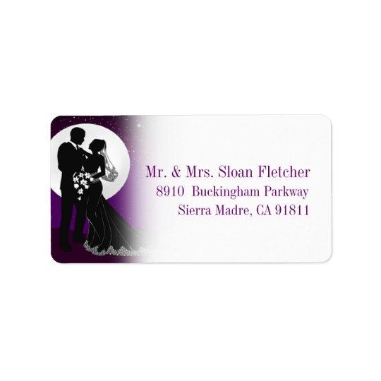 Enchanted Evening Nighttime Wedding Label | Purple