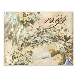 Enchanted Faeries, Vintage RSVP response card 11 Cm X 14 Cm Invitation Card
