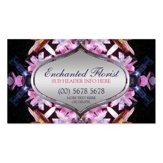 Enchanted Florist Pink+Blue Business Card