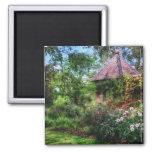 Enchanted Flower Garden Square Magnet