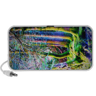 Enchanted Forest Abstract Art Doodle Travel Speaker