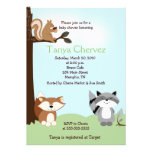 Enchanted Forest Animals Woodland Baby Shower 5x7 Personalized Invite