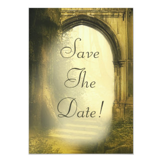 Enchanted Forest Arch Save The Date 13 Cm X 18 Cm Invitation Card