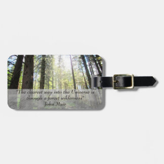 Enchanted Forest Customizable Travel Luggage Tag