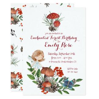 Enchanted Forest Fairy Birthday Invitation