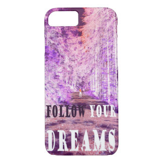 """Enchanted Forest """"FOLLOW YOUR DREAMS"""" iPhone case"""