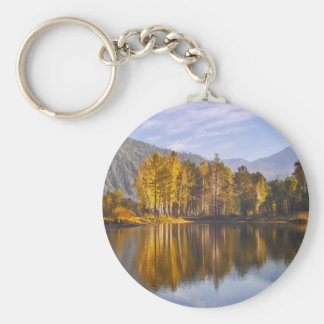 Enchanted Forest In Autumn Key Ring