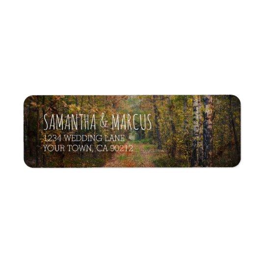 Enchanted Forest Path Wedding Return Address Label