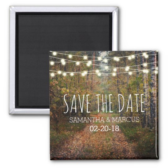 Enchanted Forest Path Wedding Save the Date Magnet