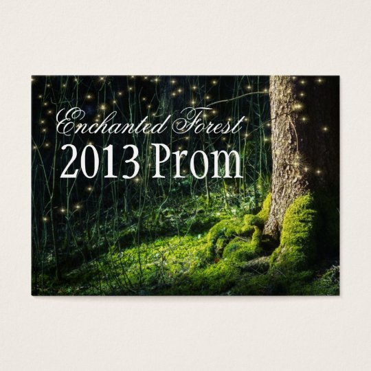 enchanted forest prom tickets invitations zazzle co uk