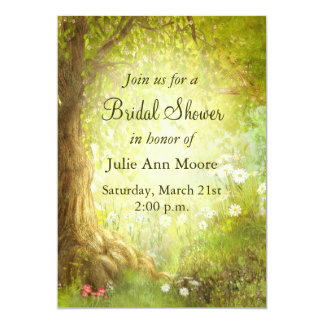Enchanted Forest Scene 13 Cm X 18 Cm Invitation Card