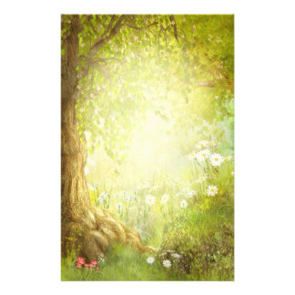 Enchanted Forest Scene Custom Stationery