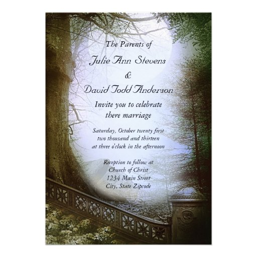 Forest Themed Wedding Invitations: Wedding Enchanted Forest Invitations On Pinterest