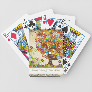 Enchanted Forest Side Branch Wedding Bicycle Playing Cards