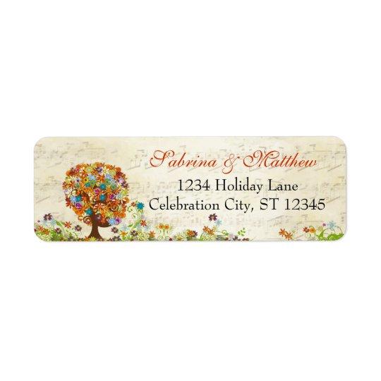 Enchanted Forest Side Branch Wedding Return Address Label