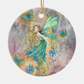 Enchanted Garden Fairy Ornament by Molly Harrison