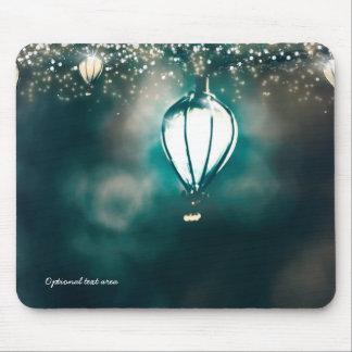 Enchanted Garden Summer String Lights Whimsical Mouse Mat