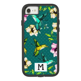 Enchanted Garden Watercolor Hummingbirds & Flowers Case-Mate Tough Extreme iPhone 8/7 Case