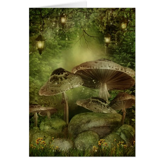 Enchanted Mushrooms Note Card