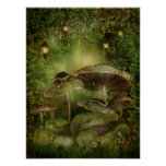 Enchanted Mushrooms Poster