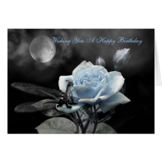 enchanted nights blue, Wishing You A Happy Birt... Card