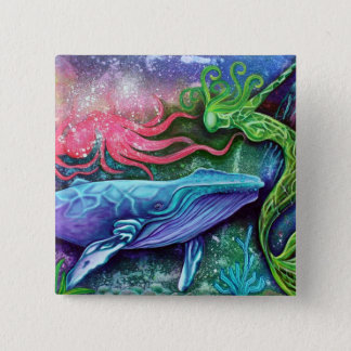 Enchanted Ocean Art 15 Cm Square Badge