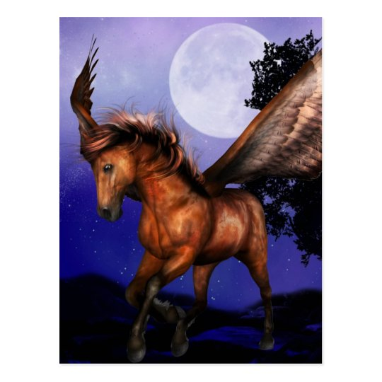 Enchanted Pegasus  Postcard