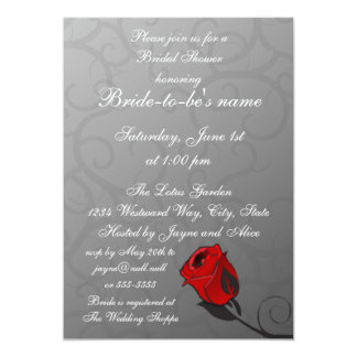Enchanted Rose Bridal Shower Invitation