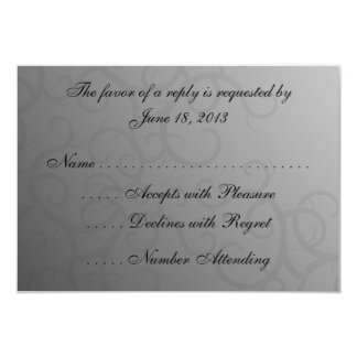Enchanted Roses  RSVP Cards 9 Cm X 13 Cm Invitation Card