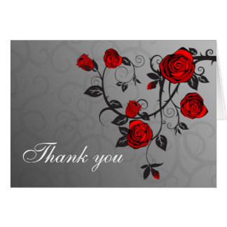 Enchanted Roses Thank You Note Card