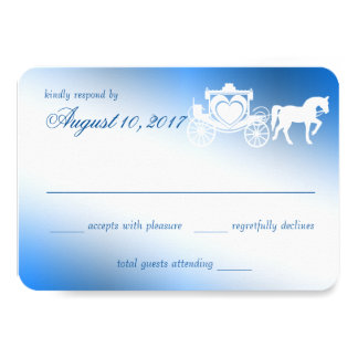 Enchanted Sapphier Carriage Fairytale Response 9 Cm X 13 Cm Invitation Card