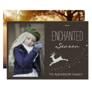 Enchanted Season Holiday Photo Card