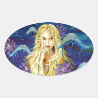 Enchanted Silence Oval Sticker