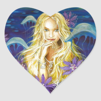 Enchanted Silence Heart Stickers