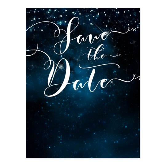 Enchanted Stars Celestial Starry Save the Date Postcard