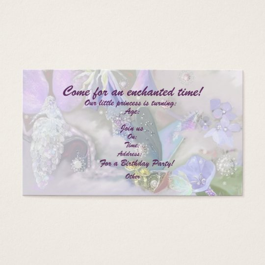 Enchanted time revised, template business card